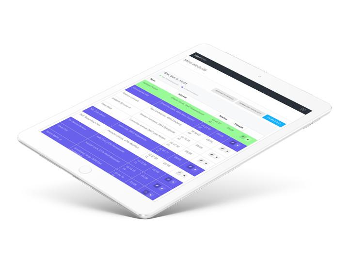 Billede af tablet med NaviNem